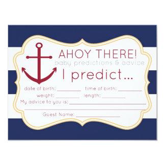 Carte nautique de prévisions et de conseil de baby