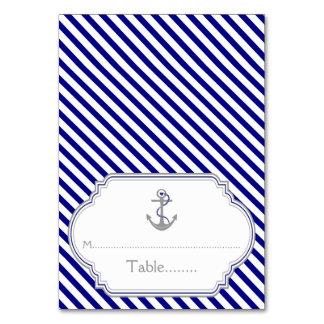 Carte nautique d'escorte de mariage d'ancre bleue