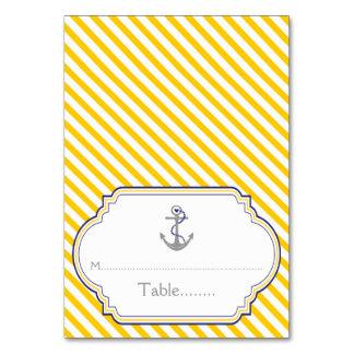 Carte nautique d'escorte de mariage d'ancre jaune