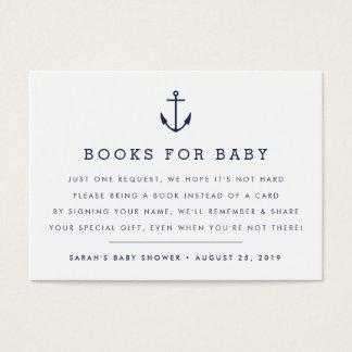 Carte nautique d'insertion de baby shower de la