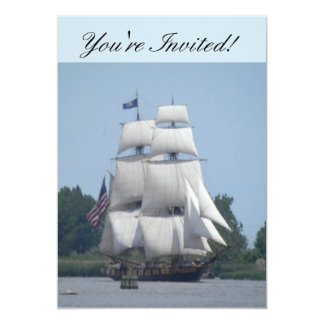Carte nautique d'invitation de bateau