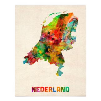 Carte néerlandaise d aquarelle faire-part personnalisé