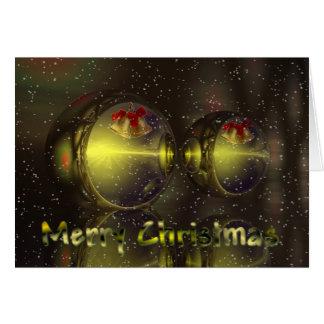 Carte neigeuse surréaliste de Noël