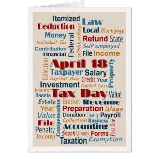 Carte neutre simple de clients de jour d'impôts le
