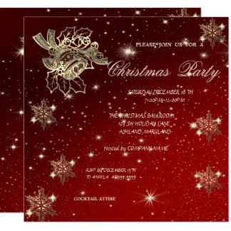 Carte Noël Bell, fête de Noël de Snowflakes, Company