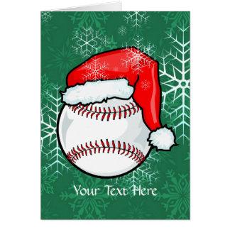 Carte - Noël de base-ball