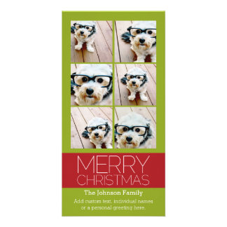 Carte Noël de collage de photo d'Instagram Joyeux