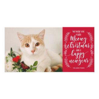 Carte Noël de Meowy