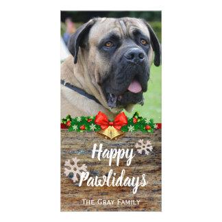 Carte Noël heureux de photo d'animal familier de