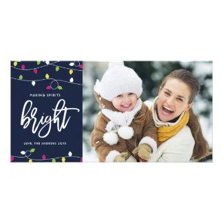 Carte Noël lumineux et coloré des lumières de Noël |