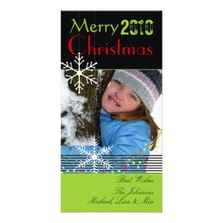 Carte Noël noir et blanc de ~ de flocons de neige,