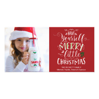 Carte Noël Photocard - ayez vous-même un joyeux petit