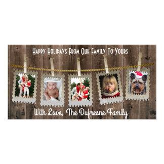Carte Noël rustique/pays