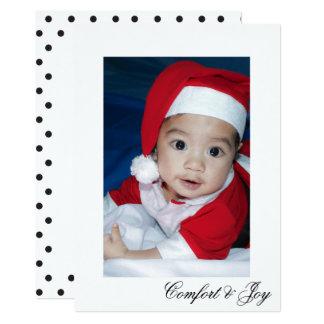 Carte Noël simple de point de polka de confort et de
