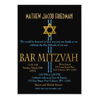 Carte Noir de l'étoile de David | de Mitzvah | de barre