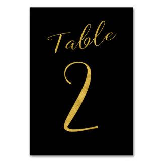 Carte Noir de scintillement d'or de typographie de