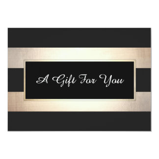 Carte Noir élégant et certificat-prime de rayures d'or