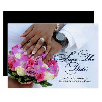 Carte Noir et blanc - faites gagner la date - épouser