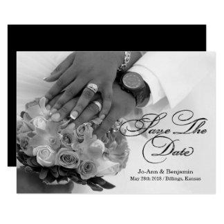 Carte Noir et blanc - faites gagner la date - épouser #2