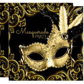 Carte Noir et partie de mascarade de masque de plume