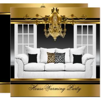 Carte Noir riche d'or de lustre de partie de pendaison