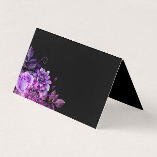 Carte noire d'allocation des places de mariage. carte de placement