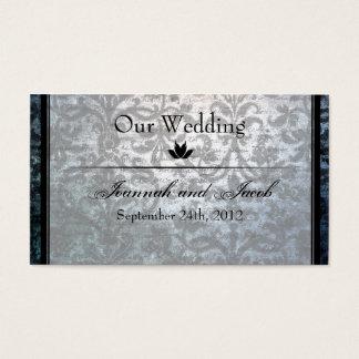 Carte noire de fantaisie de site Web de mariage