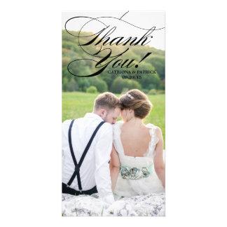 Carte noire de Phoot de Merci de mariage de Photocarte Personnalisée
