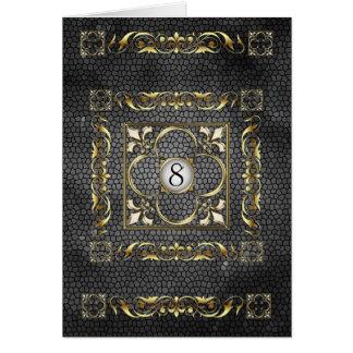 Carte noire de Tableau en verre souillé de Fleur d
