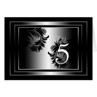Carte noire et argentée de nombre de Tableau de da