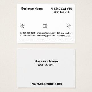 Carte noire et blanche de grande entreprise