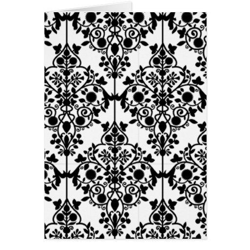 carte noire et blanche de papier peint de dentelle zazzle. Black Bedroom Furniture Sets. Home Design Ideas