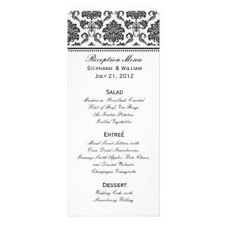 Carte noire et blanche de support de menu de maria double carte en  couleur
