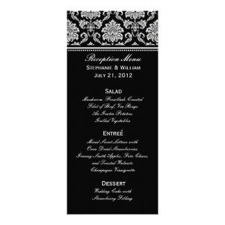 Carte noire et blanche de support de menu de maria double carte