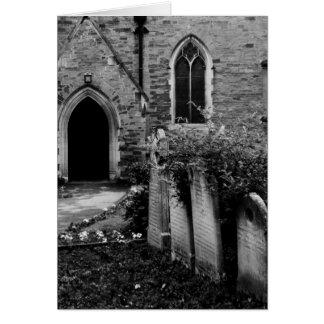 Carte noire et blanche d'église