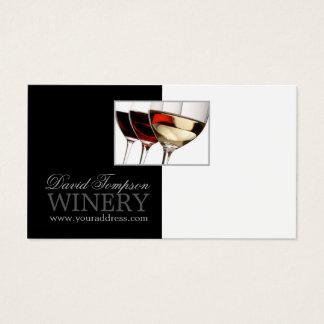 Carte noire et blanche d'établissement vinicole de