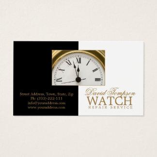 Carte noire et blanche d'horloger de service des