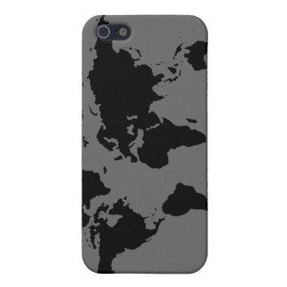 carte noire et blanche du monde coque iPhone 5