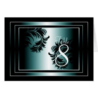 Carte noire et bleue de nombre de Tableau de damas