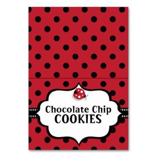 Carte noire et rouge de coccinelle - Ladybird - de