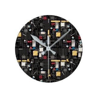 Carte noire horloge ronde