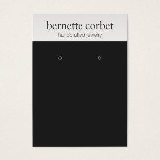 Carte noire moderne d'affichage de boucle