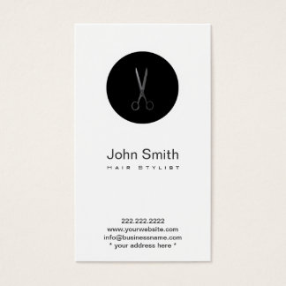 Carte noire moderne de profil de coiffeur de