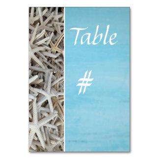 Carte Nombre blanc de table de mariage de plage de