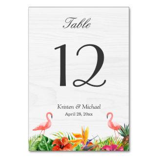 Carte Nombre floral de Tableau de flamant de ketmie