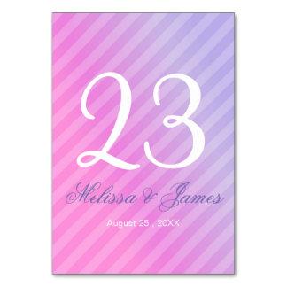 Carte Nombre lilas élégant de Tableau de rose en pastel