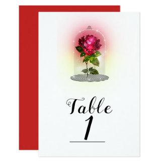 Carte Nombre magique enchanté de Tableau de rose rouge