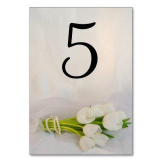 Carte Nombres blancs de Tableau de mariage de ressort de