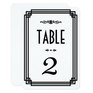 Cartes de table