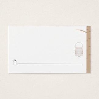 Carte nominative bilingue d'endroit de mariage de